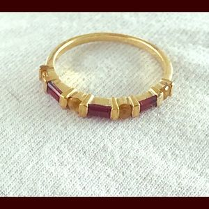 10kt Yellow Gold Ring with Gemstones